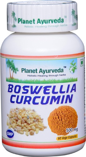 Boswellia serrata and Curcumin Capsules Planet Ayurveda