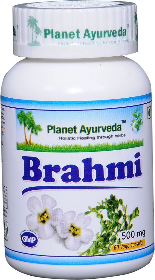 Brahmi capsules 500 mg Planet Ayurveda